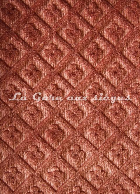 Tissu Chanée Ducrocq - Velours gaufré Matignon - Coloris: 980 Tamaris - Voir en grand