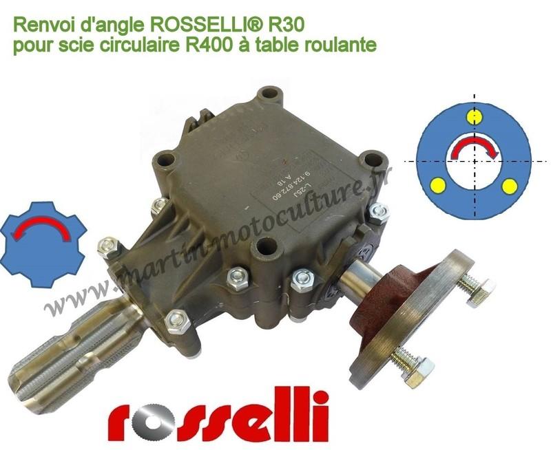Renvoi Dangle Pour Scie Circulaire Rosselli Martin Motoculture