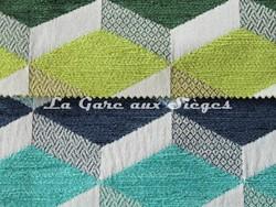 Tissu Casal - Gamma - réf: 16204 - Coloris: 30 Prairies & 10 Caraïbes - Voir en grand