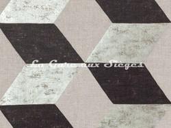Tissu Pierre Frey - Kubus - réf: F2682-001 Argent - Voir en grand