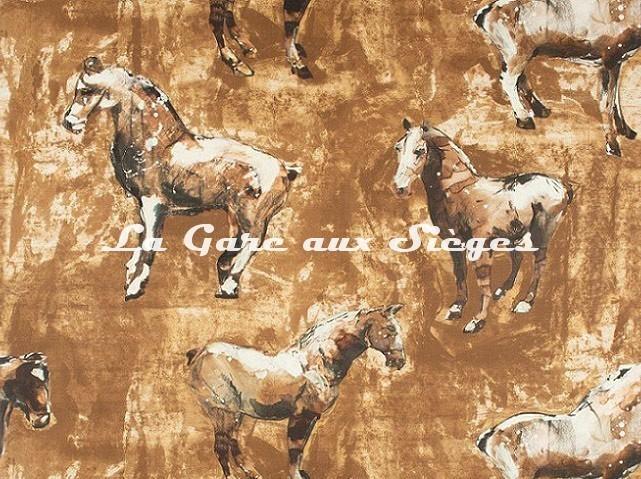 Tissu Donghia - Horses - réf: 10357.008 Camel - Voir en grand