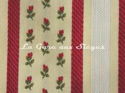 Tissu Chanée Ducrocq - La Bruyère - réf: 8344 Grenat ( détail ) - Voir en grand