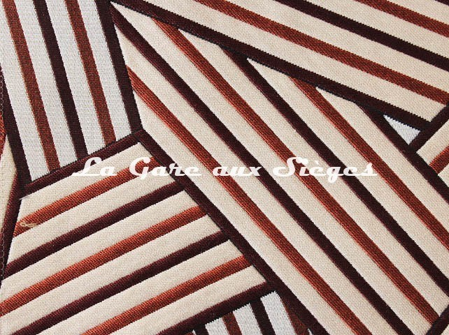 Tissu Dedar - Short Cuts - réf: T15009.005 Fuoco ( détail ) - Voir en grand
