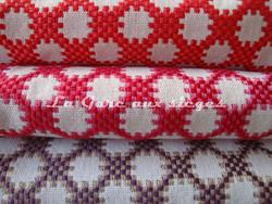 Tissu Boussac - Idaho - réf: O7790 - Coloris: 06 Pavot - 07 Azalée - 08 Violette - Voir en grand