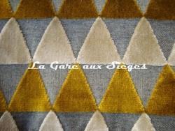 Tissu Harlequin - Tessalate - réf: 130681 Mustard/Taupe/Neutral - Voir en grand