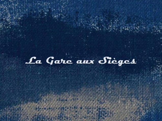 Tissu Dominique Kieffer - Tache Toile - réf: 17228-02 - Coloris: Océan - Voir en grand