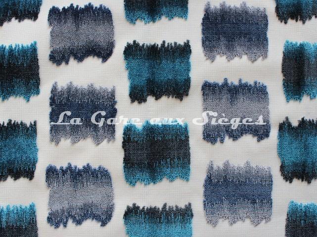 Tissu Jéro - Aquarelle - réf: 9631-01 Bleu - Voir en grand