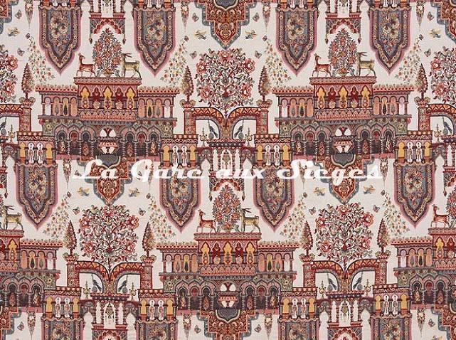Tissu Braquenié - La Palais impérial - réf: B7597.001 Multicolore - Voir en grand