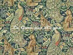 Tissu William Morris - Forest - réf: 222643 Azure - Voir en grand