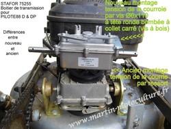 Différences entre ancien et nouveau boitier de transmission STAFOR 75255 pour tondeuse PILOTE88 D-DP - Voir en grand