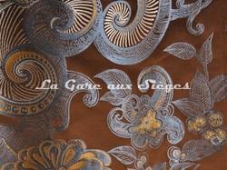 Tissu Tassinari & Châtel - Lampas Ispahan - réf: 1687-05 Brun - Voir en grand