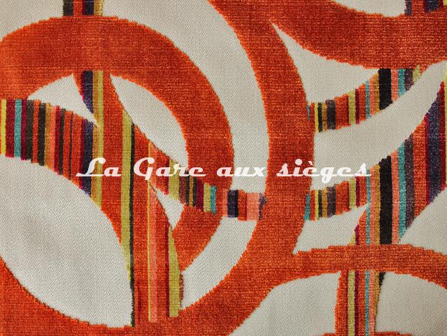 Tissu Casal - Chenonceau - réf: 12704.45 Orangé ( détail ) - Voir en grand