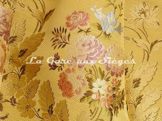 Tissu Tassinari & Châtel - Lampas Pompadour - réf: 1678-03 Or - Voir en grand