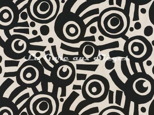 Tissu Pierre Frey - Sakura - réf: F2990-001 Noir - Voir en grand