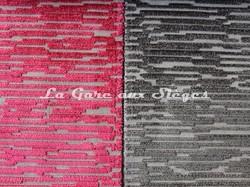Tissu Osborne & Little - Bark velvet - réf: F6551 - Coloris: 05 Red & 06 Cacao - Voir en grand