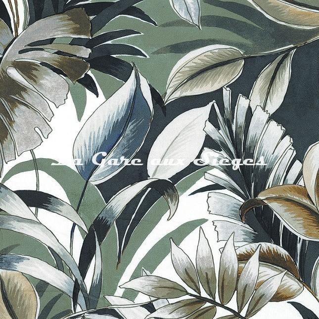 Tissu Casamance - Dypsis - réf: 4106.0351 Vert olive - Voir en grand
