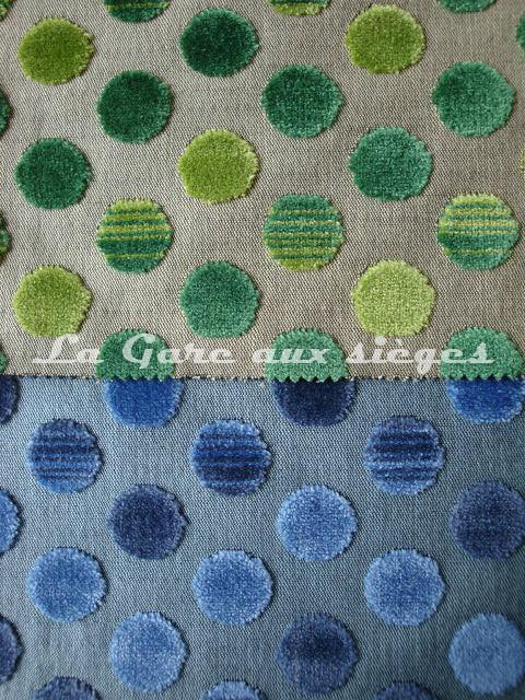 Tissu Jéro - Diabolo - réf: 9293 - Coloris: 1890 Golf & 1892 Pétrole - Voir en grand