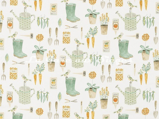 Tissu Sanderson - The Gardener - réf: 226348 Fennel - Voir en grand
