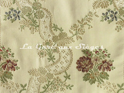 Tissu Chanée Ducrocq - Villandry - réf: 8525 Crème ( détail ) - Voir en grand