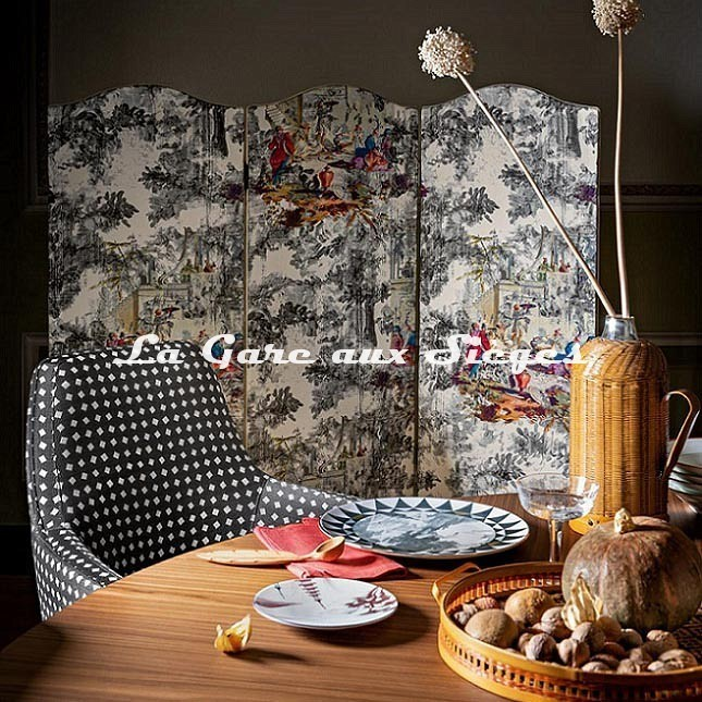 Tissu Rubelli - Déjeuner sur l'herbe - réf: 30413.001 Grigio - Voir en grand