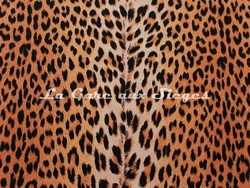 Tissu Boussac - Velours Panthère - réf: O5989 - Coloris: 011 Brun - Voir en grand