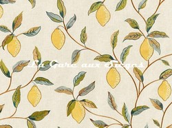 Tissu William Morris - Lemon Tree Embroidery - réf: 236823 Bayleaf/Lemon ( détail ) - Voir en grand