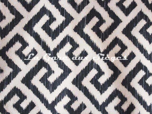 Tissu Deschemaker - Labyrinthe - réf: 3118 Ardoise - Voir en grand