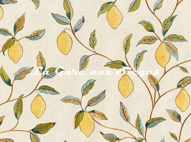 Tissu William Morris - Lemon Tree Embroidery - réf: 236823 Bayleaf/Lemon ( détail ) - Voir en grand