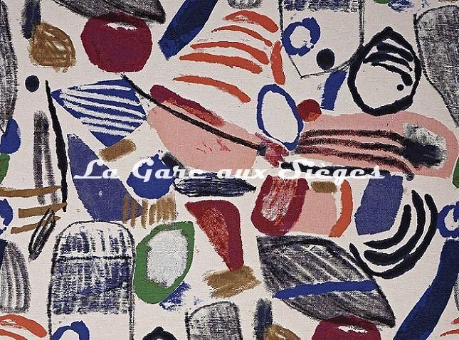 Tissu Pierre Frey - La Toile du Peintre - réf: F3528.001 Original - Voir en grand