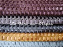 Tissu Lelièvre - Velours Bric - réf: 506 - Coloris: 12-11-10-09-08 - Voir en grand