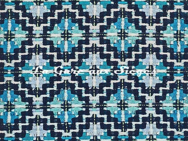 Tissu Dedar - Kievan - réf: T18010.003 Navajo Blue - Voir en grand