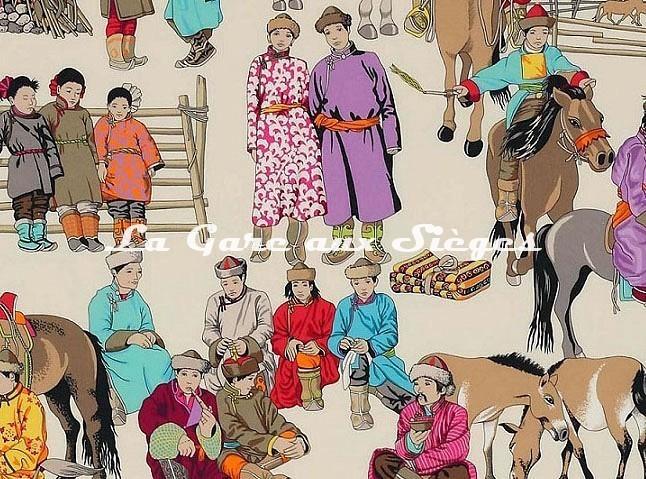 Tissu Manuel Canovas - Hazara ( détail ) - Voir en grand