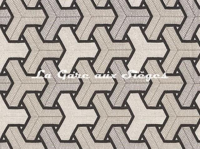 Tissu Camengo - Baléares - réf: 4171.0739 Anthracite - Voir en grand