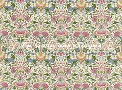 Tissu William Morris - Lodden - réf: 222525 Blush/Woad - Voir en grand