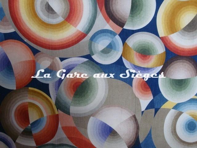 Tissu Pierre Frey - 1920 - Mil neuf cent vingt - réf: 2938-001 Multicolore - Voir en grand