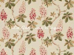 Tissu Sanderson - Chestnut Tree - réf: 225517 Coral/Bayleaf - Voir en grand
