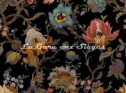 Tissu House of Hackney - Velours Artemis - Coloris: Black - Voir en grand