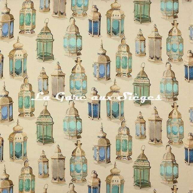 Tissu Manuel Canovas - Essaouira - réf: O4953.01 Aqua - Voir en grand