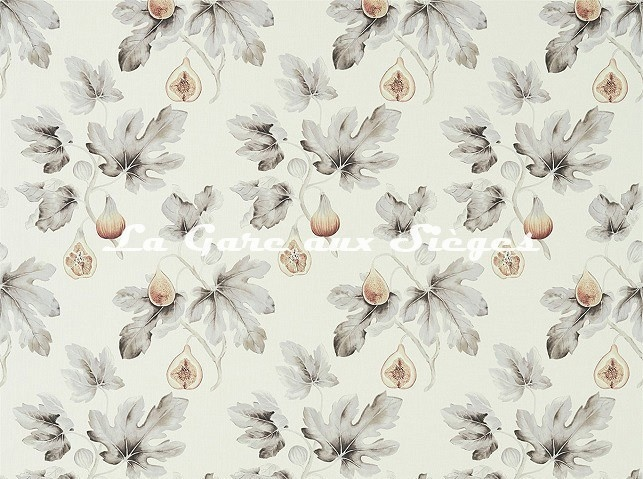 Tissu Sanderson - Fig Harvest - réf: 226326 Sépia/Gris - Voir en grand