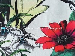 Tissu Osborne & Little - Tulipan - réf: F6743 - Coloris: 01 Multi/Ivory - Voir en grand