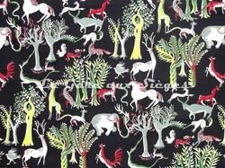 Tissu Pierre Frey - Zoo - réf: F5551-001 Multicolore - Voir en grand