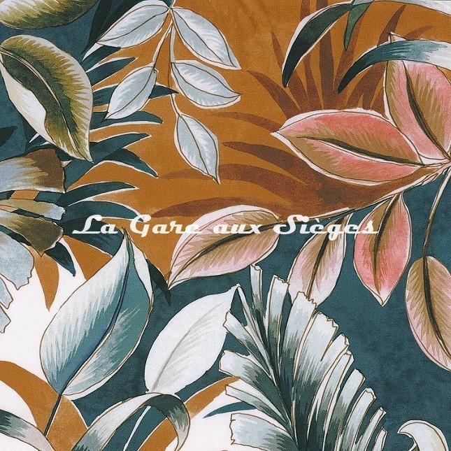 Tissu Casamance - Dypsis - réf: 4106.0100 Bleu - Voir en grand