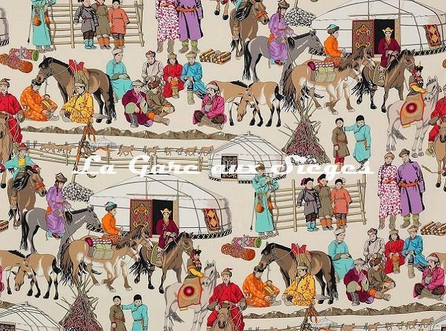 Tissu Manuel Canovas - Hazara - réf: O4913.01 - Voir en grand