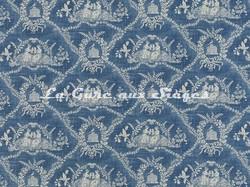 Tissu Pierre Frey - Crespieres - réf: F2056-001 Bleu ancien - Voir en grand