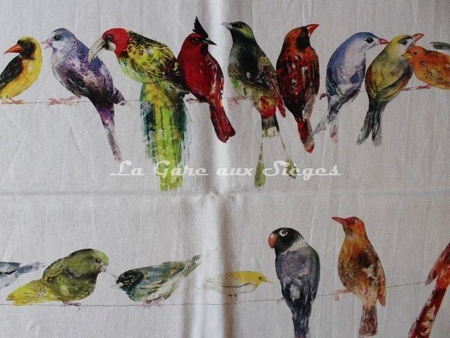 Tissu Chivasso - Birdsong - réf: CH2718 - Coloris: 030 Multicolore - Voir en grand