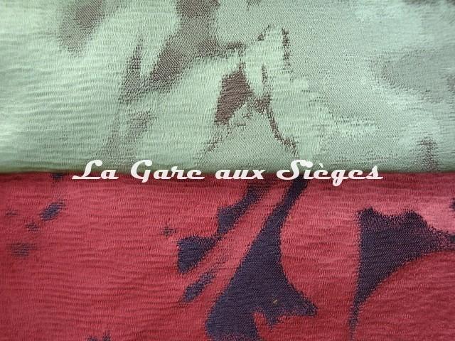 Tissu Rubelli - Chiaroscuro - réf: 30014 - Coloris: 008 Giada & 010 Rubina - Voir en grand