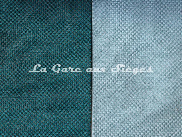 Tissu Casal - Cotillons - réf: 16180 - Coloris: 35 Malachite & 10 Océan - Voir en grand
