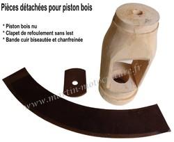 Composition piston bois pour pompe à eau www.martin-motoculture.fr - Voir en grand