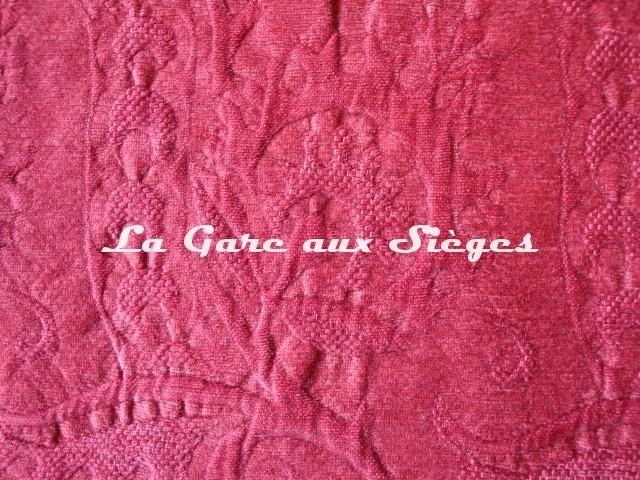 Tissu Dominique Kieffer - Damas - réf: 17116 - Coloris: 02 Framboise - Voir en grand