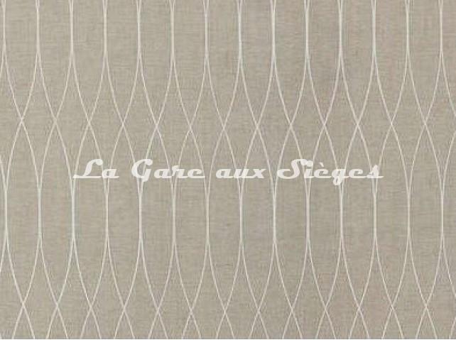 Tissu Pierre Frey - Jazz - réf: F2763.002 Ecru - Voir en grand